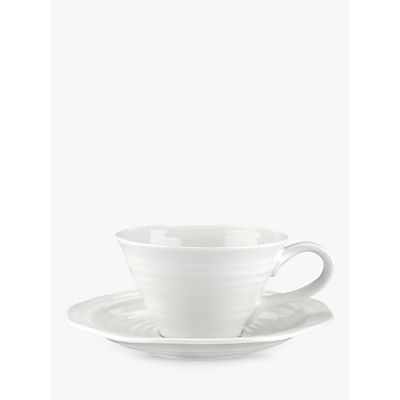Sophie Conran for Portmeirion Tea Cup and Saucer, White