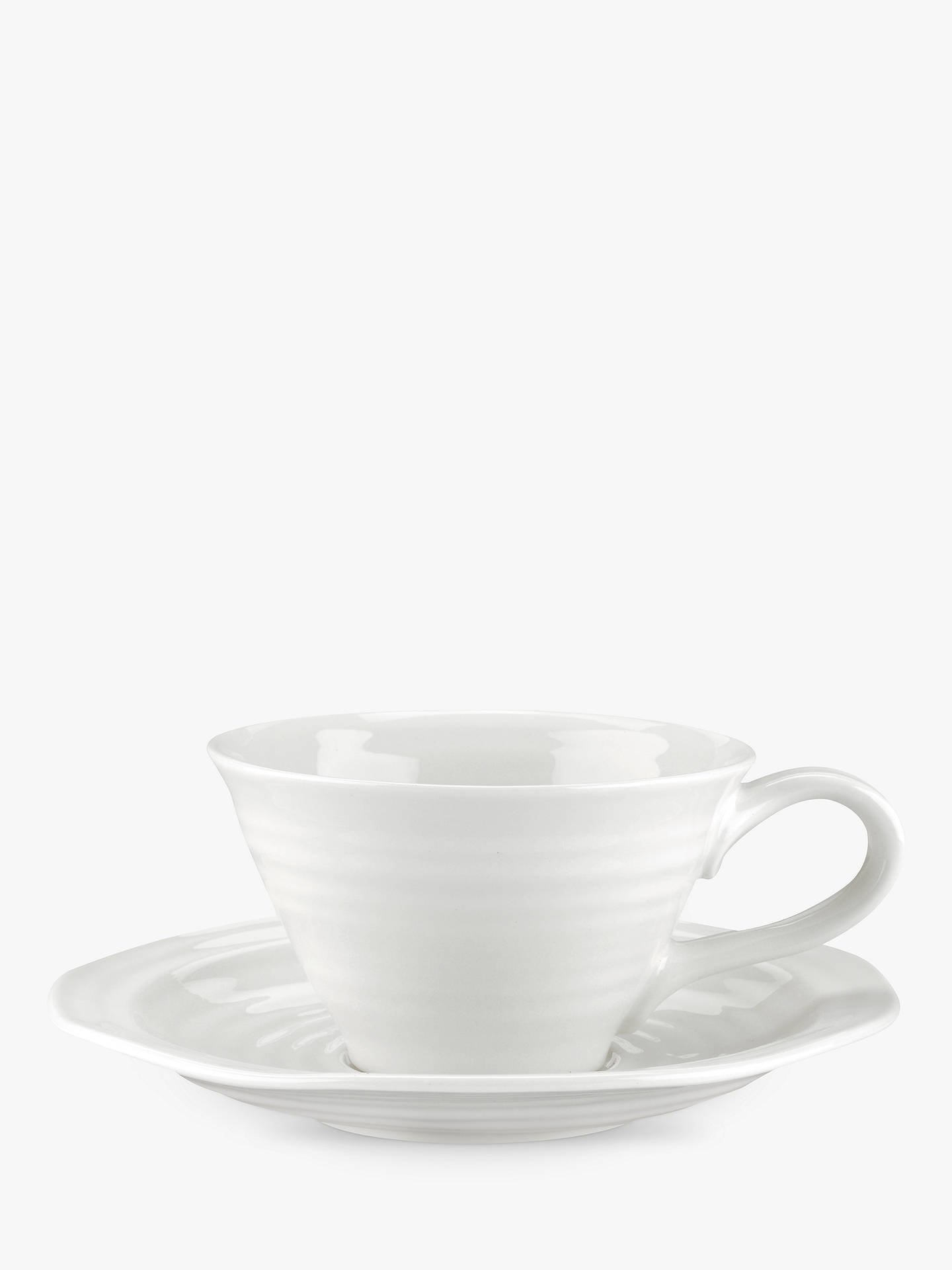 8c0b03ce58 Buy Sophie Conran for Portmeirion Tea Cup and Saucer, White Online at  johnlewis.com ...