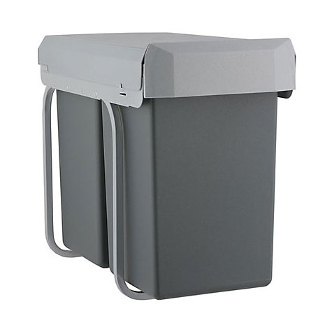 buy wesco pull out double boy recycling bin 2 x 15l john lewis. Black Bedroom Furniture Sets. Home Design Ideas