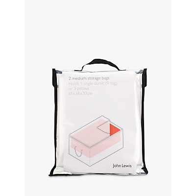 John Lewis & Partners Transparent Oblong Bag, Set of 2