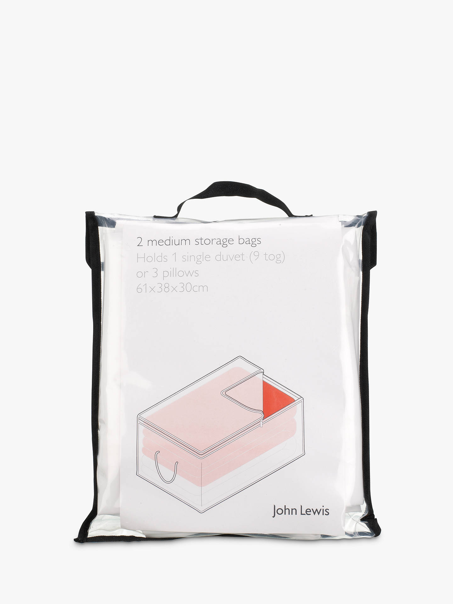BuyJohn Lewis & Partners Transparent Oblong Bag, Set of 2 Online at johnlewis.com