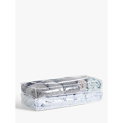 John Lewis & Partners Transparent Underbed Bag, Set of 2