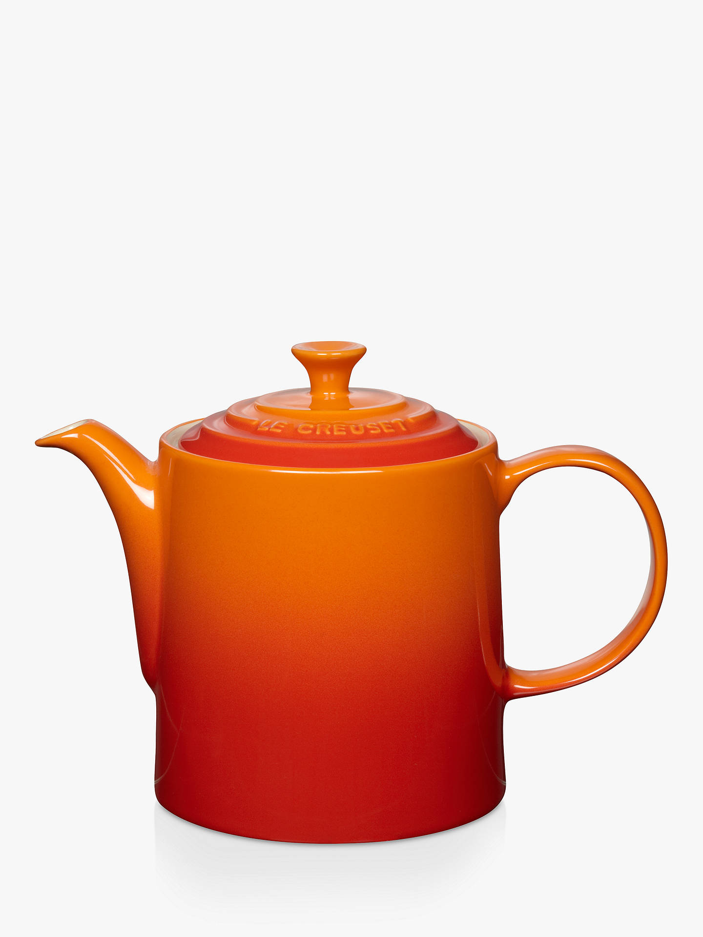 BuyLe Creuset Stoneware Grand Teapot, 1.3L, Volcanic Online at johnlewis.com