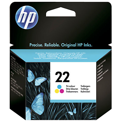 Product photo of Hp 22 inkjet cartridge tricolour c9352ae