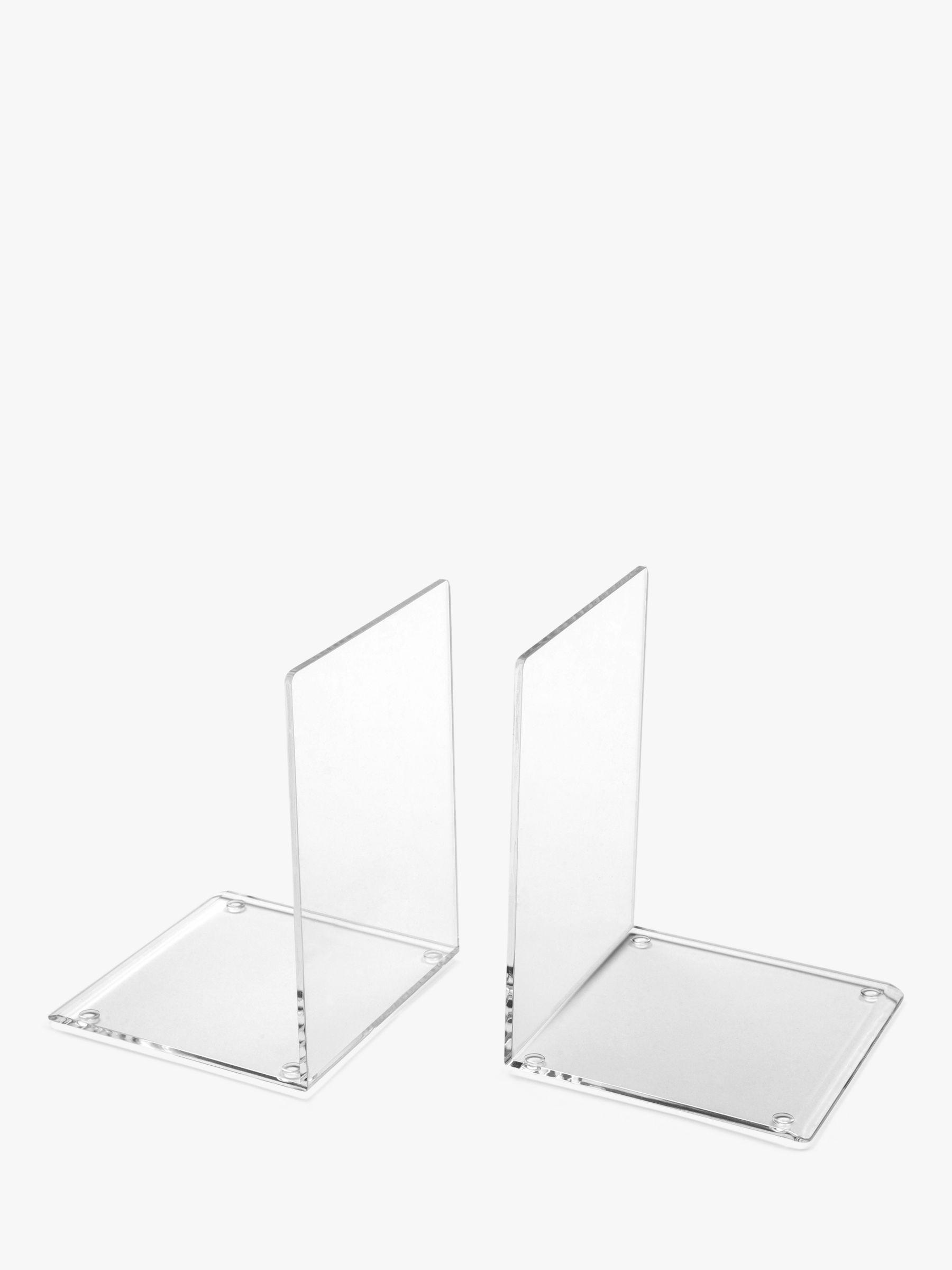 Osco Osco Acrylic Bookends, Set of 2, Clear