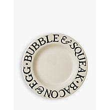 Buy Emma Bridgewater Black Toast Dinner Plate, Natural/Black, Dia.27cm Online at johnlewis.com
