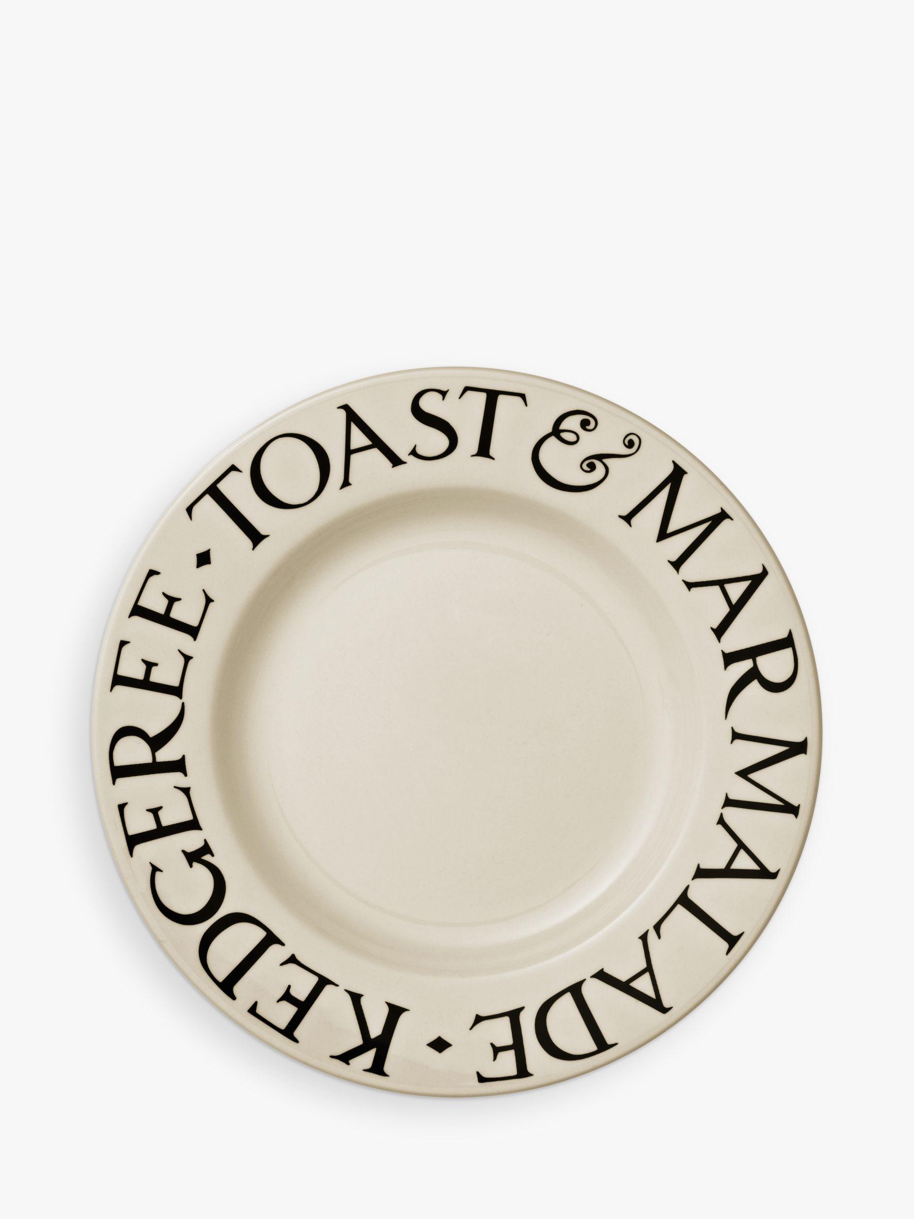 Emma Bridgewater Emma Bridgewater Black Toast Plate, Black/Natural, Dia.21.5cm