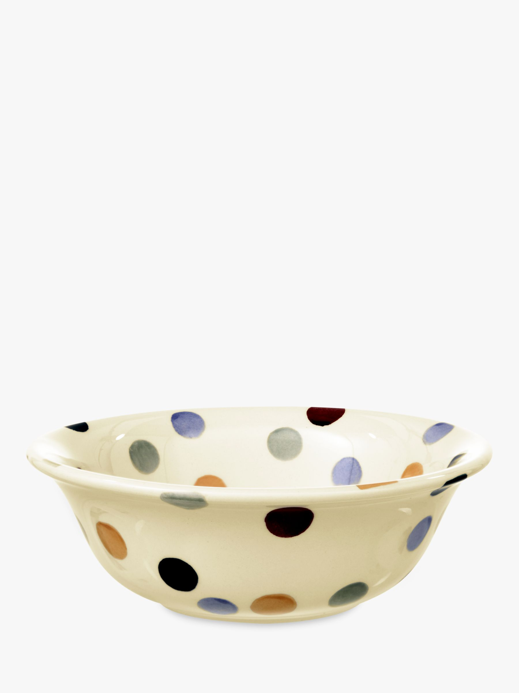 Emma Bridgewater Emma Bridgewater Polka Dot Cereal Bowl, Multi, Dia.16.5cm