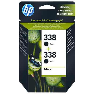 Product photo of Hp 338 black inkjet cartridge pack of 2 cb331ee