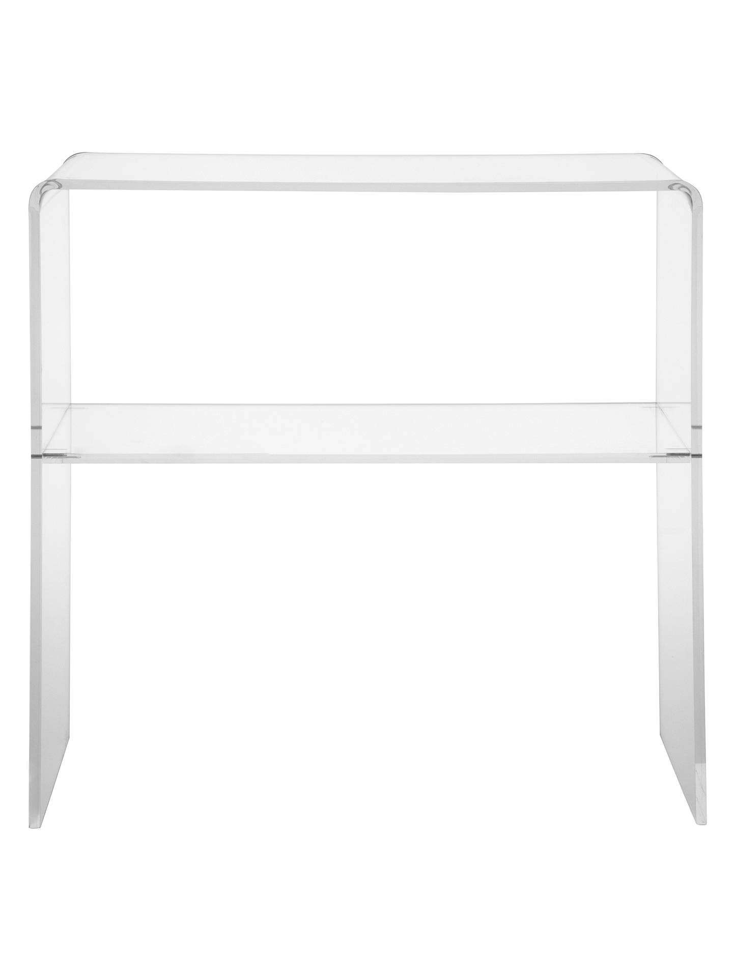 John Lewis Partners Ice Console Table Clear Online At Johnlewis
