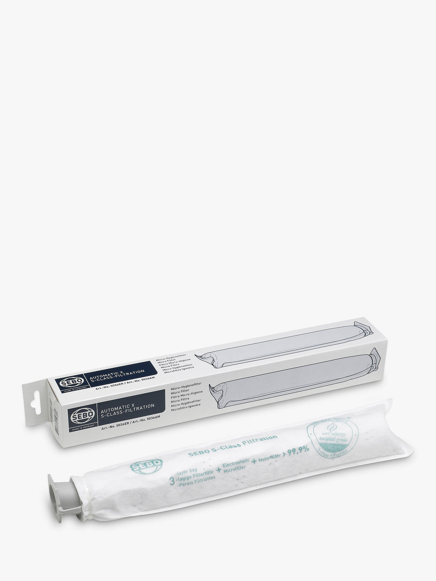 679aa1944dec Buy SEBO 5036ER X Series Upright Micro Hygiene Filter Online at  johnlewis.com