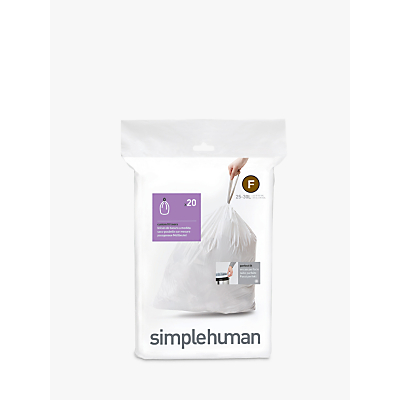 simplehuman Bin Liners, Size F, Pack of 20