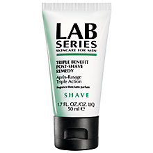 Buy Lab Series Shave, Triple Benefit Post-Shave Remedy, 50ml Online at johnlewis.com