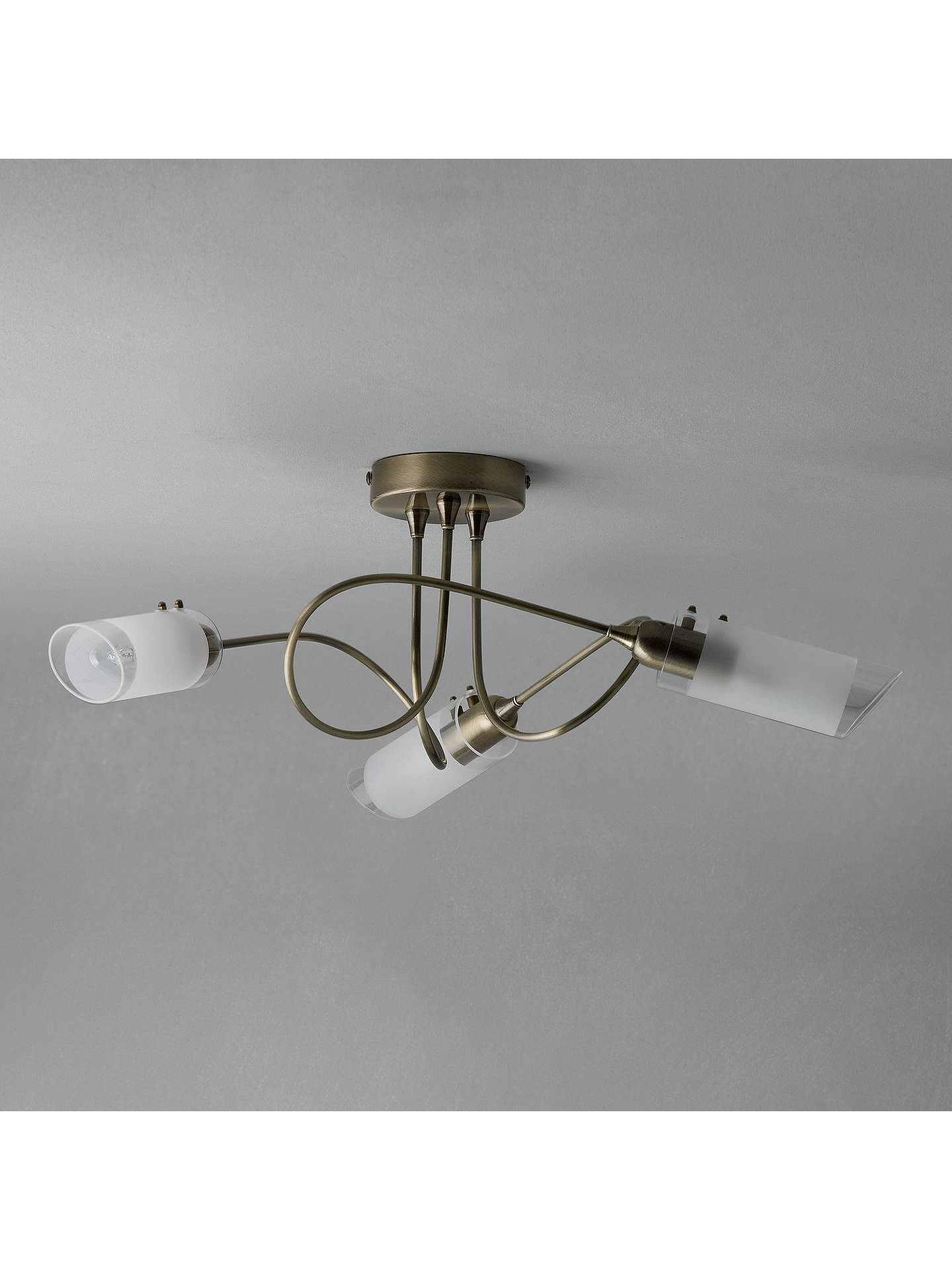 BuyJohn Lewis & Partners Limbo Ceiling Light, 3 Arm, Antiqued Brass Online at johnlewis.com