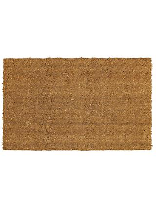 John Lewis & Partners Coir Natural Door Mat Rug