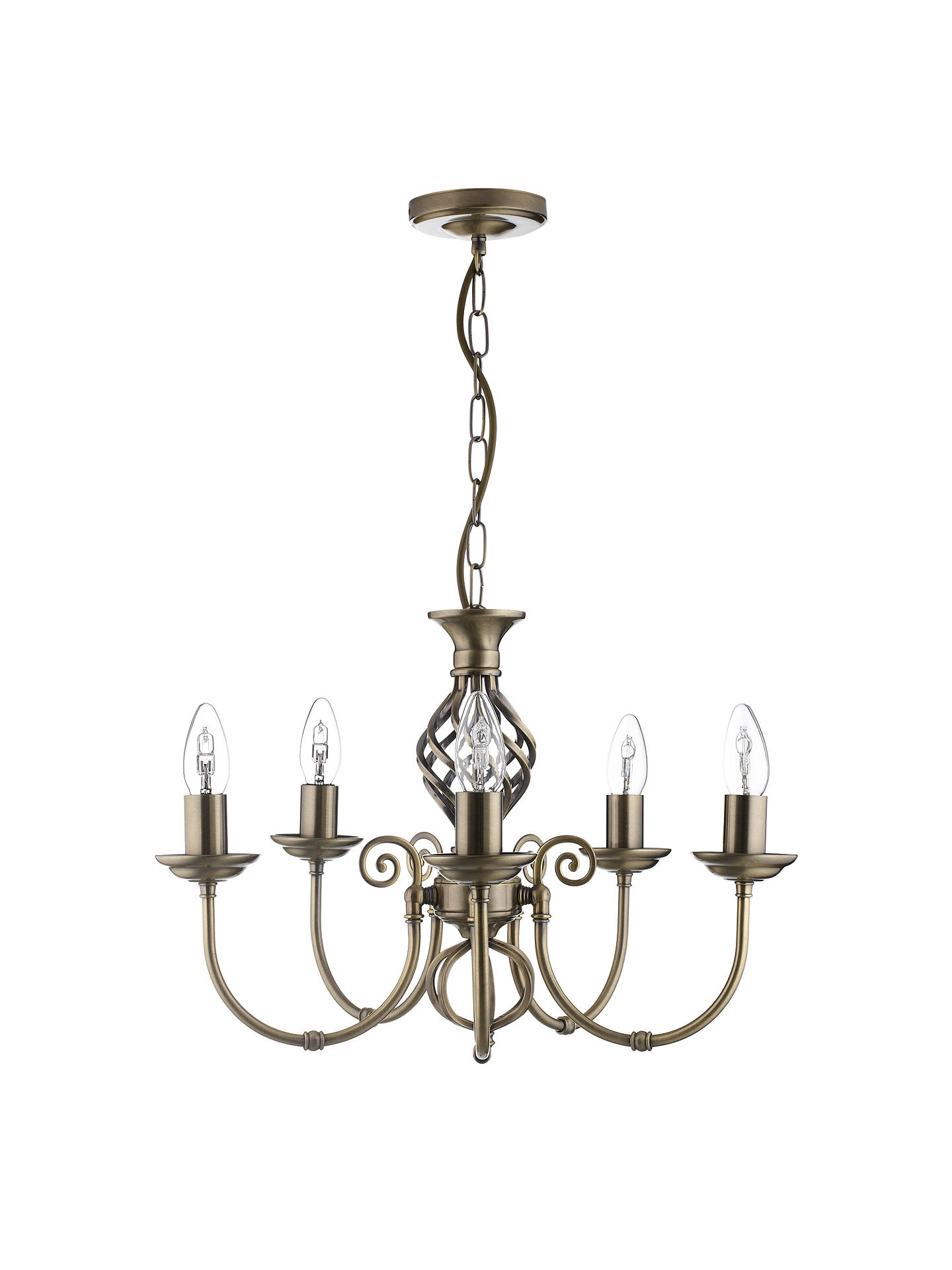 Buy John Lewis & Partners Malik Chandelier Ceiling Light, Brass Online at johnlewis.com