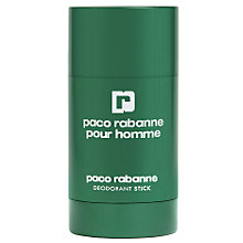 Buy Paco Rabanne Pour Homme Deodorant Stick, 75g Online at johnlewis.com