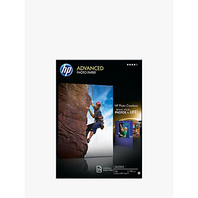 Product photo of Hp advanced photo paper white a4 25 sheets