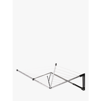 Product photo of Brabantia wallfix wall mounted clothes airer washing line silver