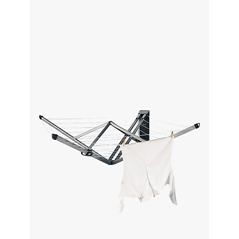 Buy Brabantia WallFix Wall Mounted Clothes Airer Washing Line, Silver Online at johnlewis.com
