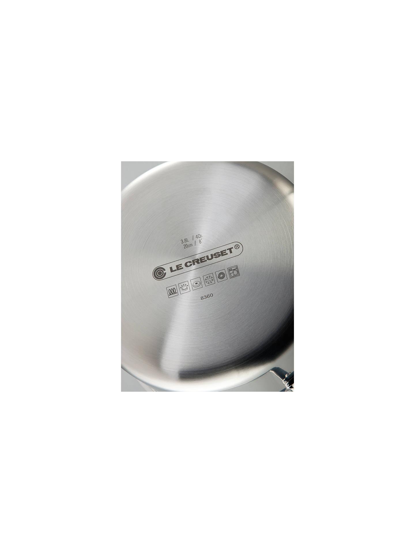 Le Creuset 3-Ply Stainless Steel Saucepan Set, 3-Piece