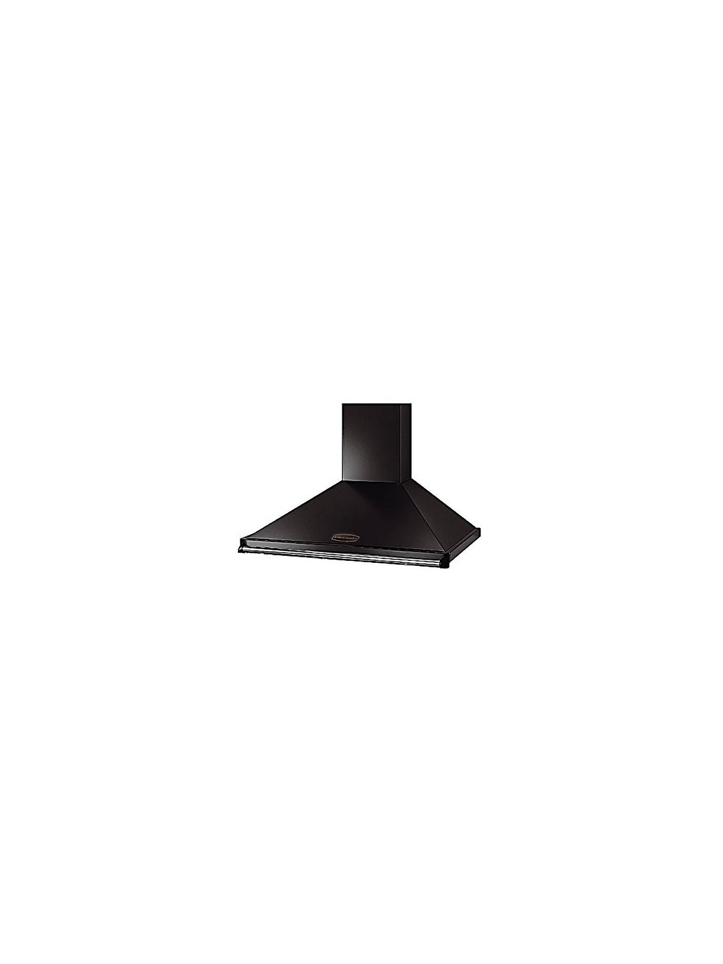 Buy Rangemaster Classic 90 Cooker Hood, Black with Chrome Rail Online at johnlewis.com