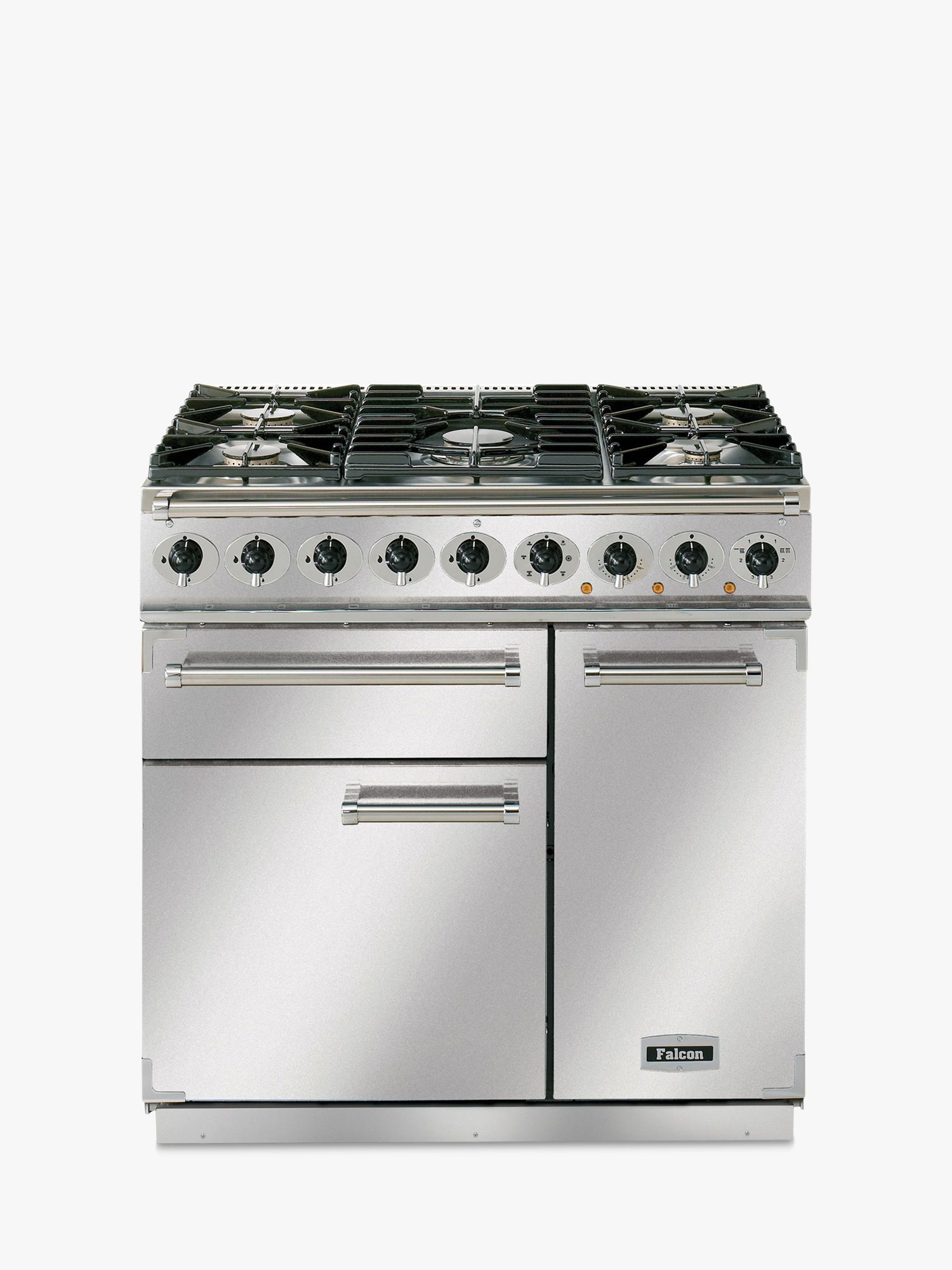 Falcon Falcon 900 Deluxe Dual Fuel Range Cooker, Stainless Steel