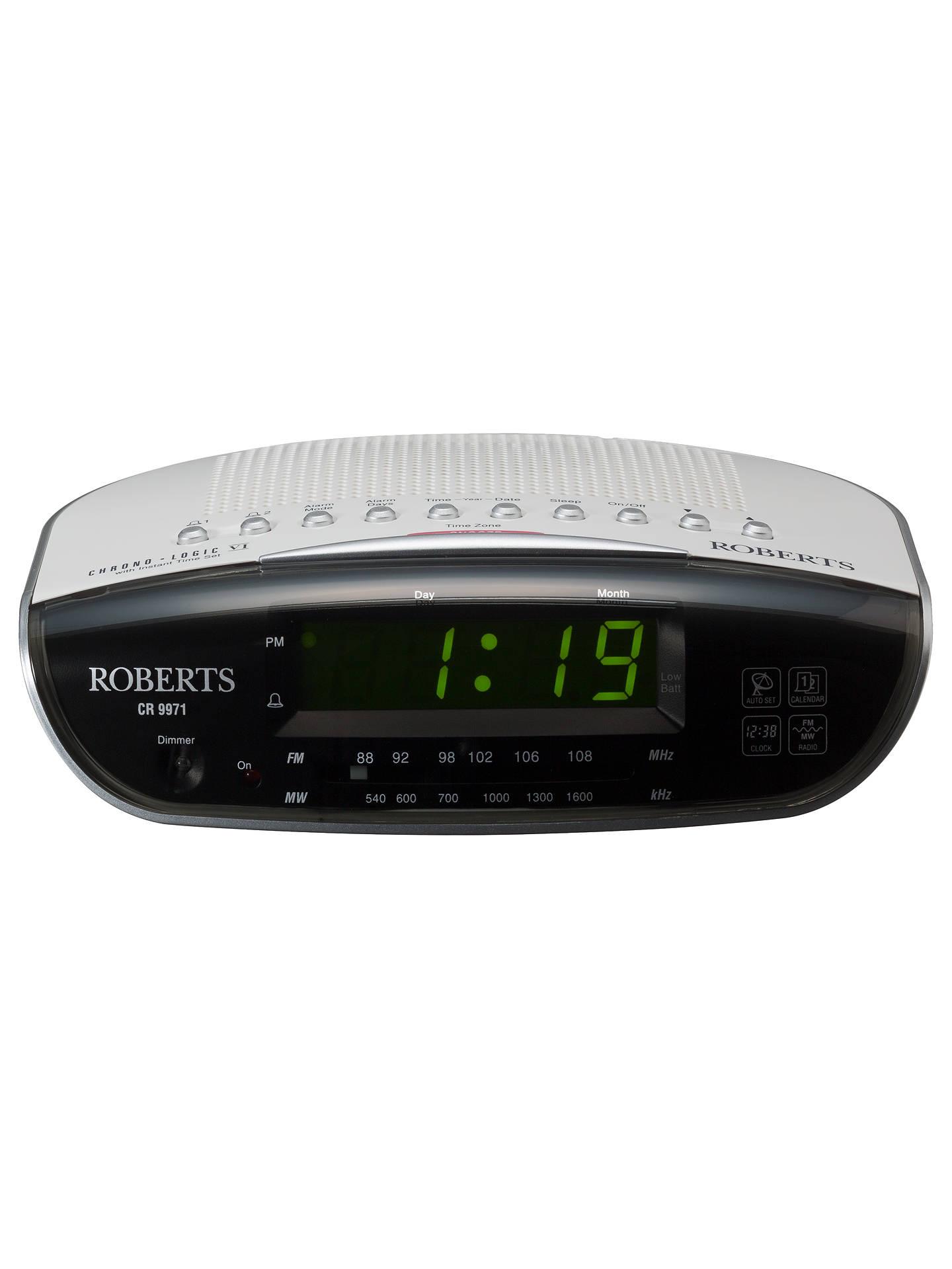 BuyROBERTS Chronologic VI Clock Radio Online at johnlewis.com ...