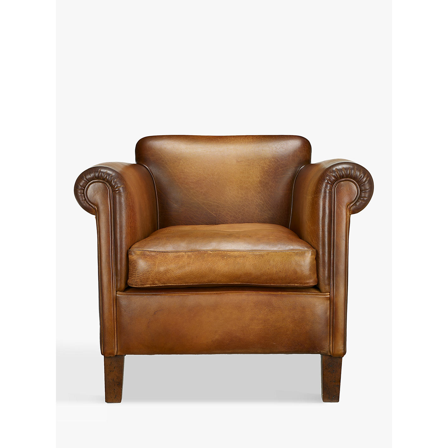 Buy John Lewis Camford Leather Armchair Buffalo Antique