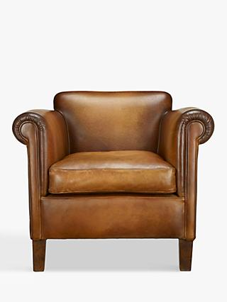 John Lewis & Partners Camford Leather Armchair, Buffalo Antique