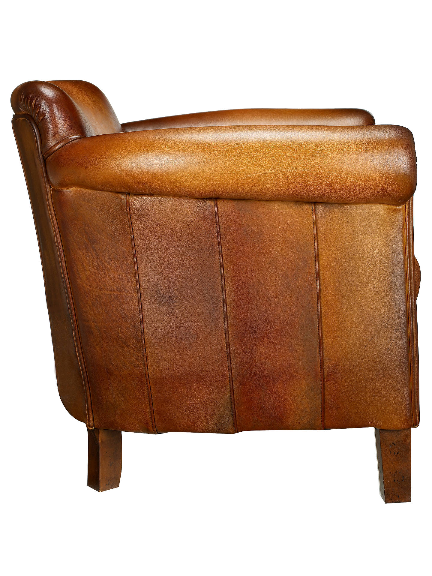 John Lewis & Partners Camford Leather Armchair, Buffalo Antique at ...