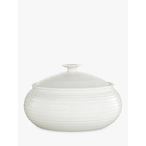 Buy Sophie Conran for Portmeirion Porcelain Round Low Casserole Oven Dish, White, 27cm Online at johnlewis.com