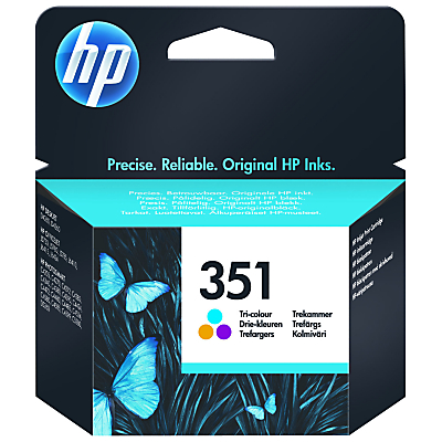 HP 351 Inkjet Cartridge, Tri-colour, CB337EE
