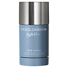Buy Dolce & Gabbana Light Blue Pour Homme Deodorant, 75ml Online at johnlewis.com