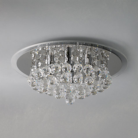 Bathroom Ceiling Lights John Lewis buy john lewis belinda flush ceiling light, chrome / crystal