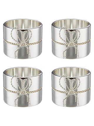 Vera Wang for Wedgwood Love Knots Napkin Rings, Set of 4