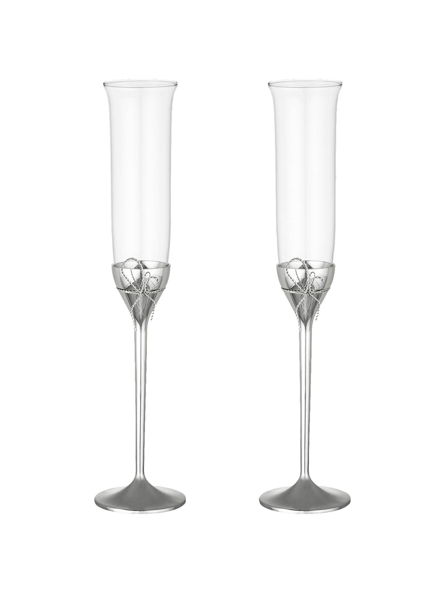 BuyVera Wang for Wedgwood Love Knots Flutes, Set of 2 Online at johnlewis.com