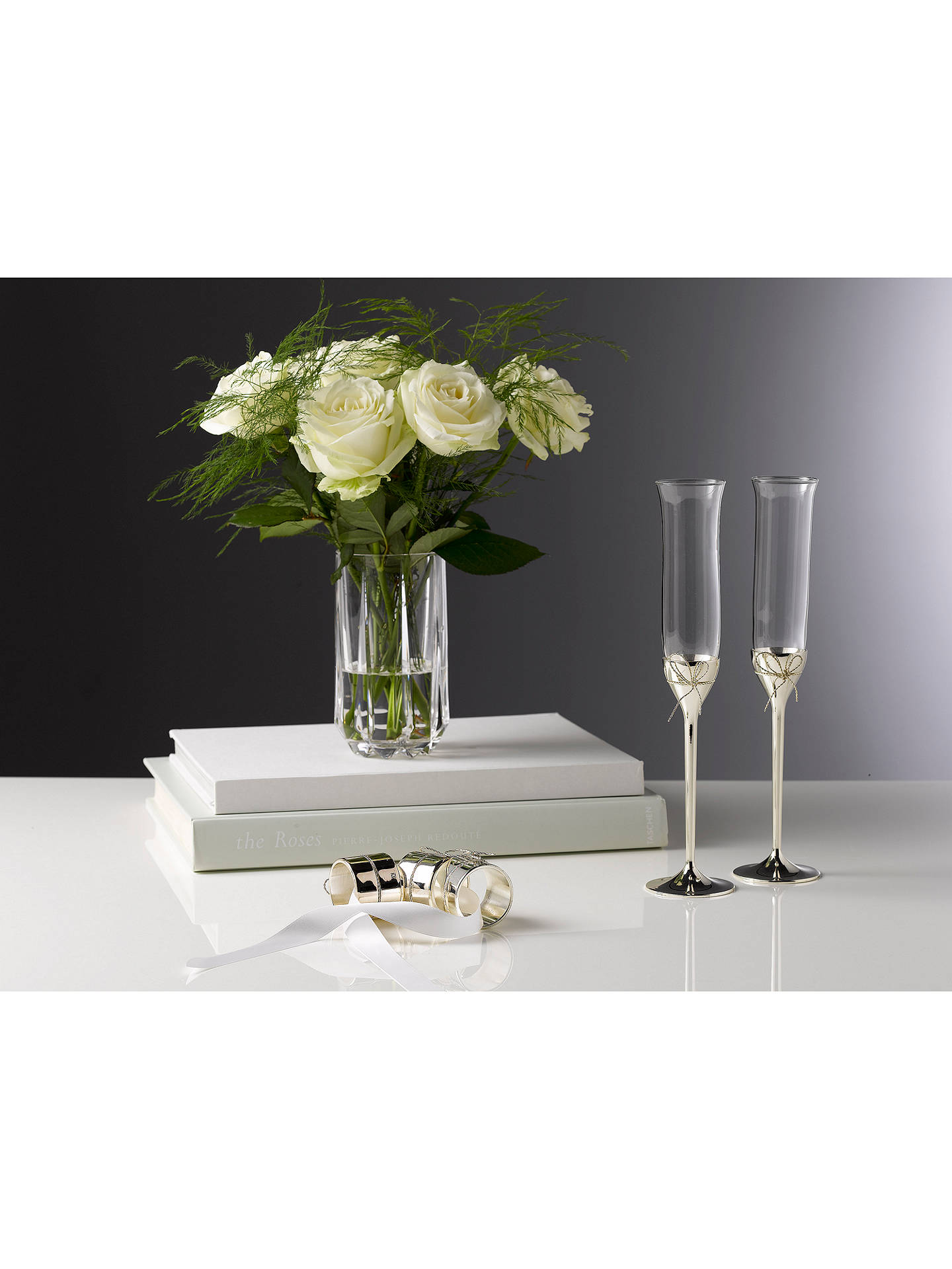 f3641a6d2d50 Buy Vera Wang for Wedgwood Love Knots Flutes, Set of 2 Online at johnlewis.