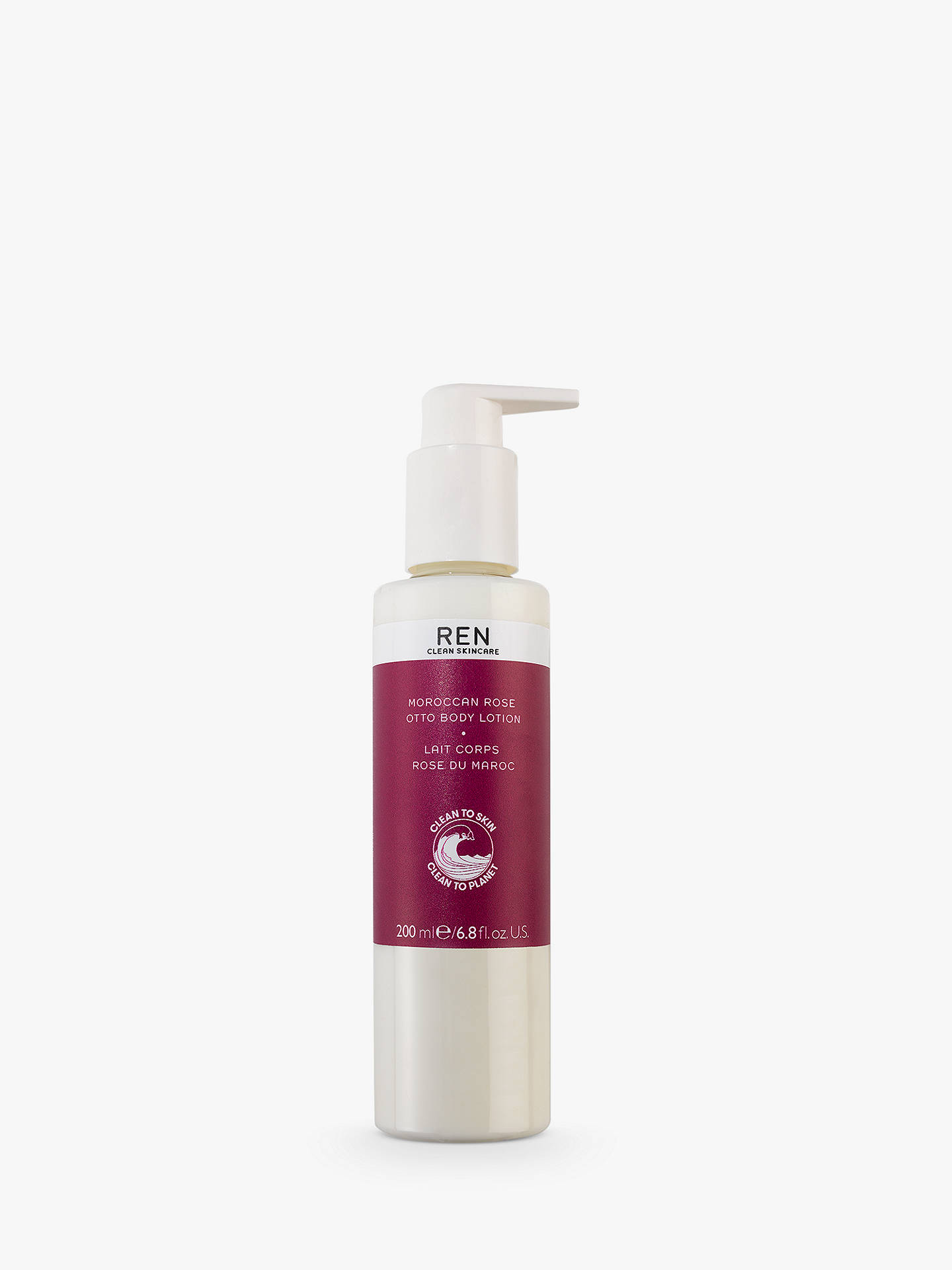 Buy REN Clean Skincare Moroccan Rose Otto Body Lotion, 200ml Online at johnlewis.com