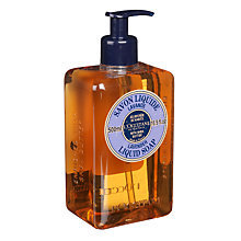 Buy L'Occitane Shea Butter Liquid Soap, Lavender Online at johnlewis.com