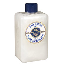 Buy L'Occitane Shea Butter Milk Cream Bath, 500ml Online at johnlewis.com