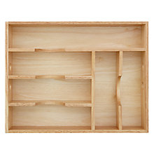 Buy Rubberwood Cutlery Tray, 6 Compartments Online at johnlewis.com