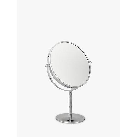 Buy john lewis chrome stand 7 x magnifying mirror john lewis for Magnifying bathroom mirror on stand