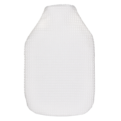 Waffle Cotton Hot Water Bottle, White