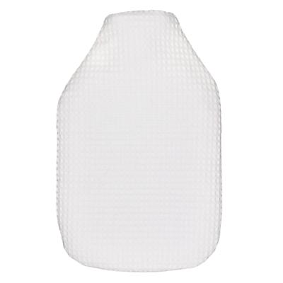 Waffle Cotton Hot Water Bottle, White