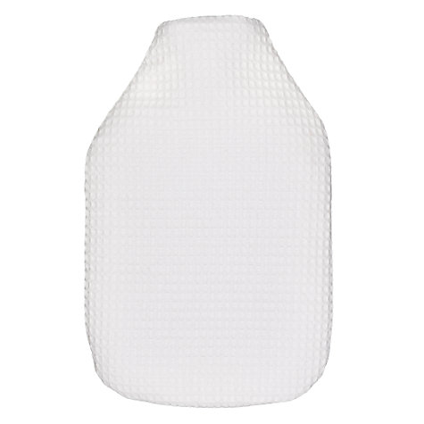 Buy Waffle Cotton Hot Water Bottle, White Online at johnlewis.com