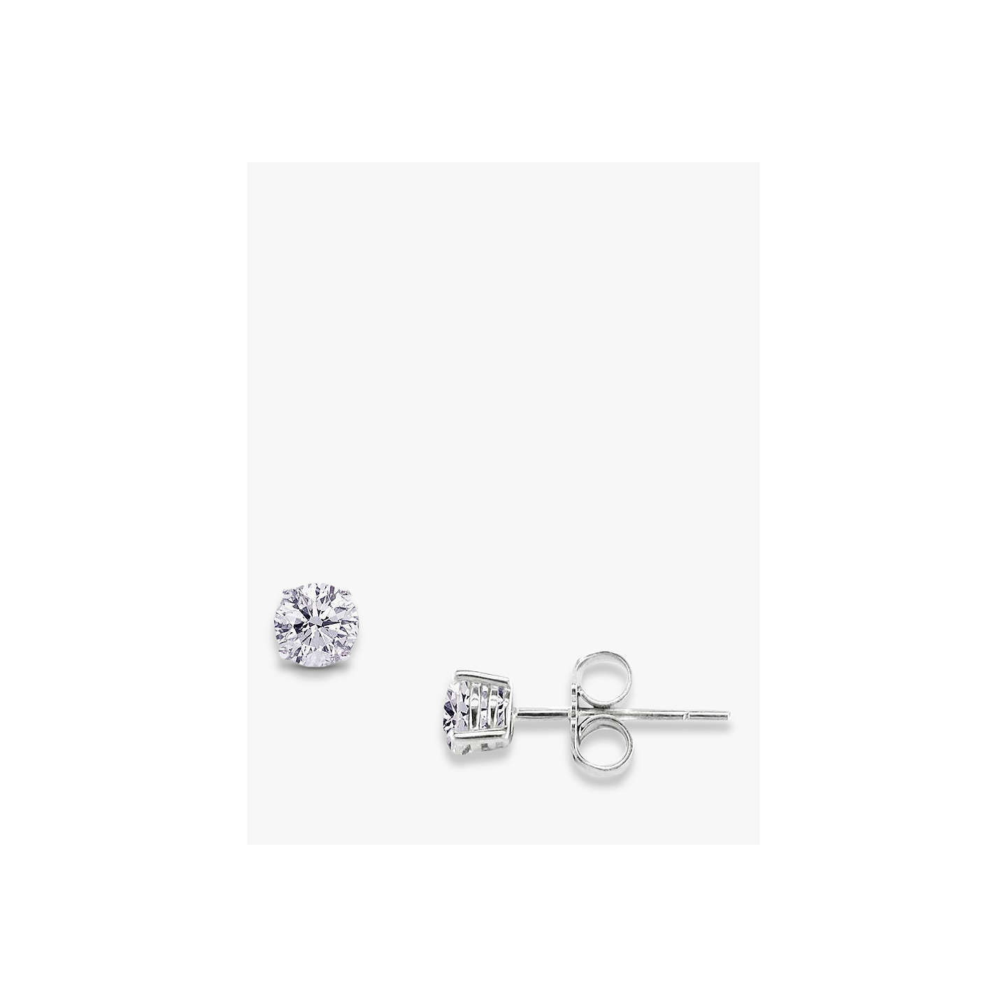 round pave square cut earrings sterling silver stud diamond