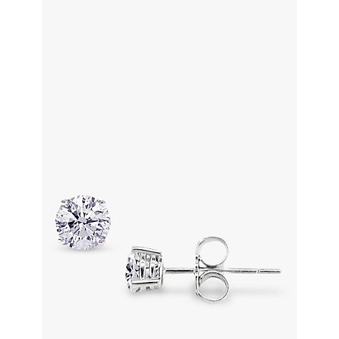 Buy EWA Diamond Stud Earrings, 0.50 Carat Online at johnlewis.com