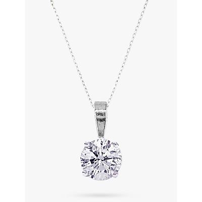 E.W Adams Diamond Pendant Necklace, 0.30 Carat, White Gold