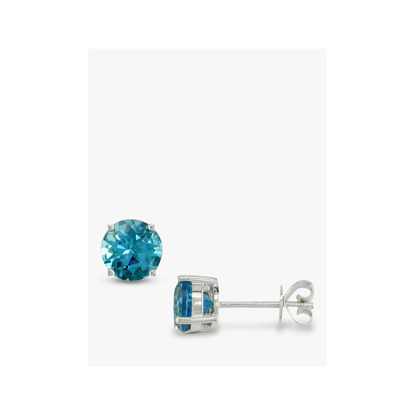 round earrings collection ef products earring stud topaz br diamond white